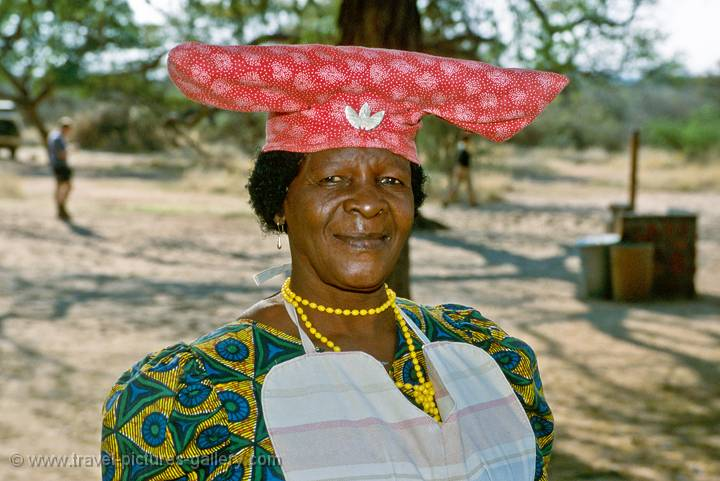 a Herero lady at the Waterberg Plateau